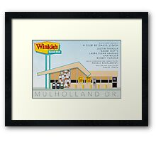Mulholland drive Winkie's Diner alternative movie poster Framed Print