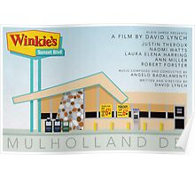 Mulholland drive Winkie's Diner alternative movie poster Poster