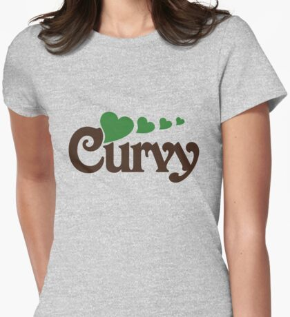 Curvy Womens Fitted T-Shirt
