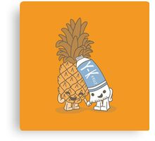 The Cutest Couple: Pineapple & Lube Canvas Print