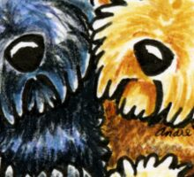 Black Yellow Labradoodles Lined Up Sticker
