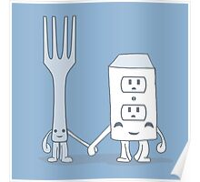 The Cutest Couple: Fork & Electrical Outlet Poster