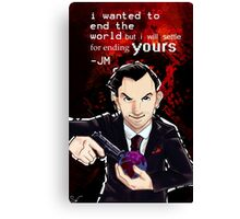 Moriarty- End your World.. Canvas Print