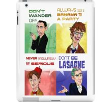 The Doctor's Rules iPad Case/Skin