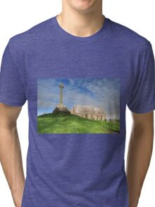 Kirkmadrine Church and Cross Tri-blend T-Shirt