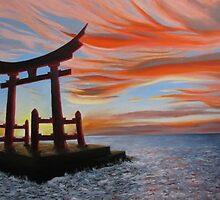 Sunset and Torii by Michael Beddall
