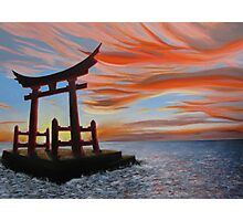 Sunset and Torii Photographic Print