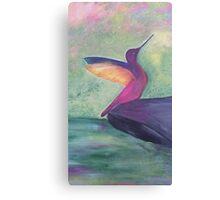 Colourful original bird artwork Canvas Print