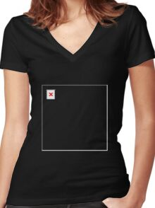 404 Design Not Found Women's Fitted V-Neck T-Shirt