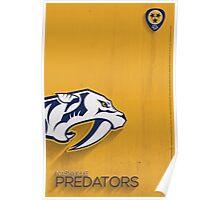 Nashville Predators Minimalist Print Poster