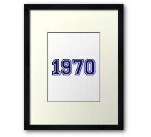 1970 Framed Print