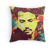 johnny depp urban art Throw Pillow