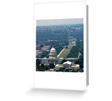 DC From the Air Greeting Card