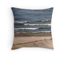 Lake Michigan Waves Throw Pillow