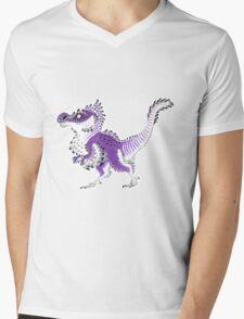 Asexual Pride Dinosaur Mens V-Neck T-Shirt