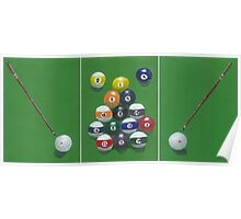 Triptych Billiards 8 Ball Poster