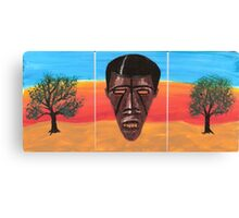 Triptych African Mask Canvas Print