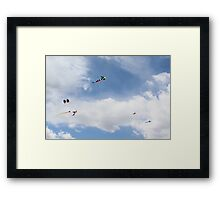 Flying Kites Framed Print