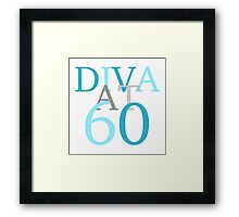 Diva At 60 Framed Print