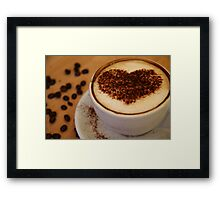 coffee heart Framed Print