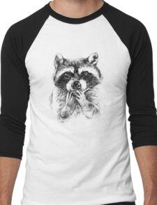 Surprised raccoon Men's Baseball ¾ T-Shirt