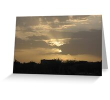 Golden Sunrise over Malta Greeting Card