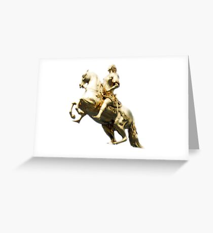 The Golden Statue (original) Greeting Card