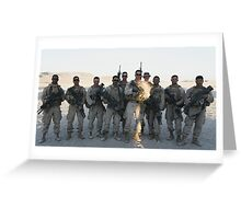 2nd Platoon- Ghost Squad  Greeting Card