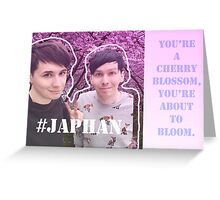 Dan and Phil in Japan, Japhan / Fall out boy lyrics Greeting Card