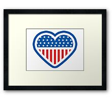Patriot Heart Framed Print