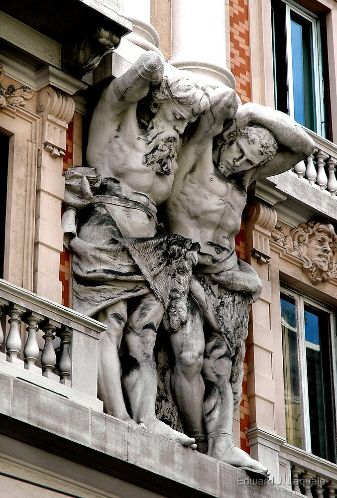 """""""BUILDING GIANTS"""" ........ Genoa, Italy by Edward J. Laquale"""