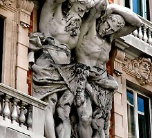 """BUILDING GIANTS"" ........ Genoa, Italy by Edward J. Laquale"