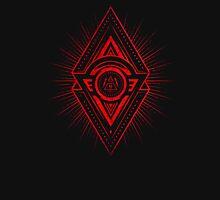 The Eye of Providence is watching you! (Diabolic red Freemason / Illuminati symbolic) Unisex T-Shirt