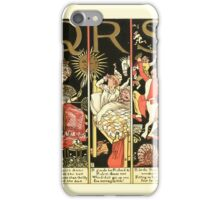 The Mother Hubbard Picture Book by Walter Crane - Plate 59 - The Absurd ABC - Q R S iPhone Case/Skin