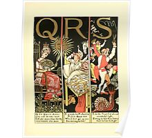 The Mother Hubbard Picture Book by Walter Crane - Plate 59 - The Absurd ABC - Q R S Poster