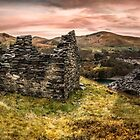 Snowdonia Ruins Panorama by Adrian Evans