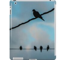Doves on Wires iPad Case/Skin