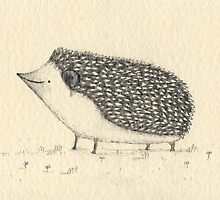 Monochrome Hedgehog by Sophie Corrigan