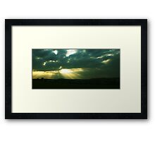 evening rays Framed Print