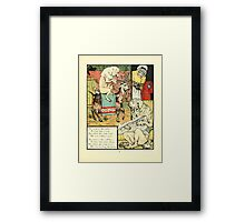 The Mother Hubbard Picture Book by Walter Crane - Plate 21 - Went to the Tailors, Cobblers Framed Print