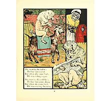 The Mother Hubbard Picture Book by Walter Crane - Plate 21 - Went to the Tailors, Cobblers Photographic Print