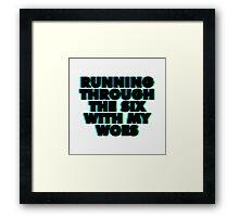 WithMyWoes (Bold) Framed Print