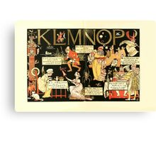 The Mother Hubbard Picture Book by Walter Crane - Plate 56 - The Absurd ABC - K L M N O P Canvas Print