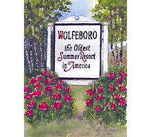 WOLFEBORO NH WELCOME SIGN  Photographic Print