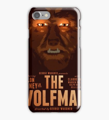 The Wolfman 1941 alternative movie poster iPhone Case/Skin