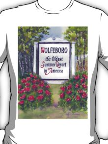 WOLFEBORO NH WELCOME SIGN  T-Shirt