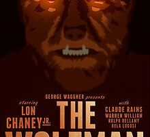 The Wolfman 1941 alternative movie poster by kinographics