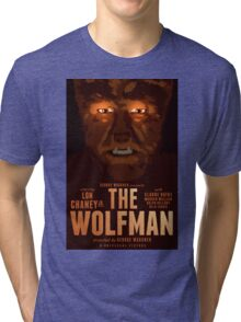 The Wolfman 1941 alternative movie poster Tri-blend T-Shirt