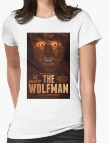 The Wolfman 1941 alternative movie poster Womens Fitted T-Shirt