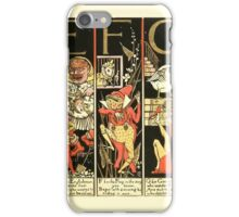 The Mother Hubbard Picture Book by Walter Crane - Plate 51 - The Absurd ABC - E F G iPhone Case/Skin